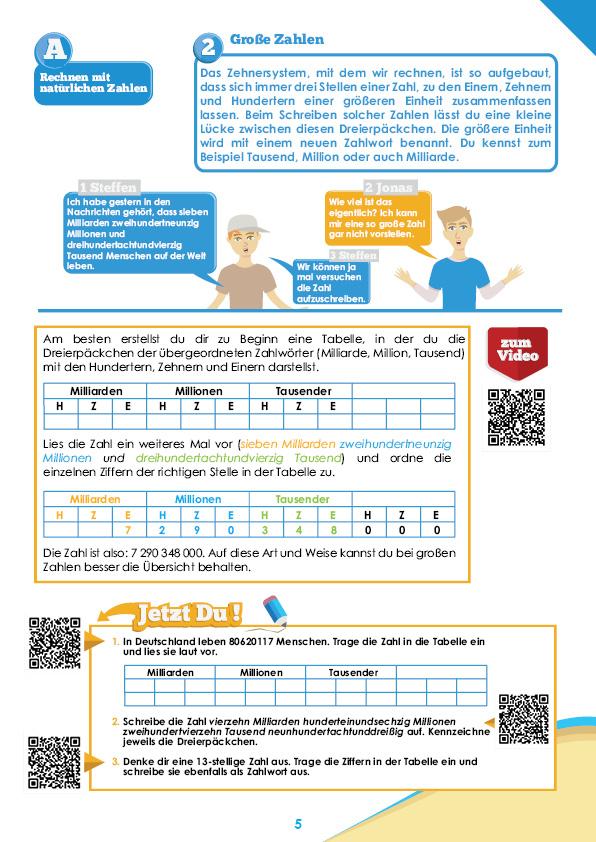 Mathe-Übungsheft für die Klasse 5 Sek I | StrandMathe